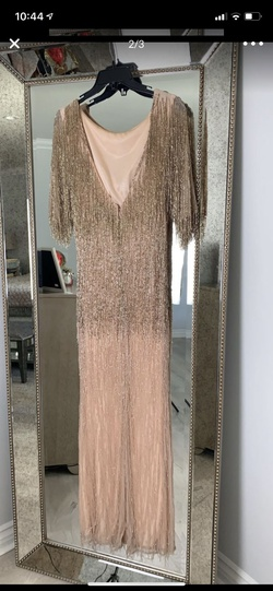 Mac Duggal Multicolor Size 14 Short Height Fringe Mermaid Dress on Queenly
