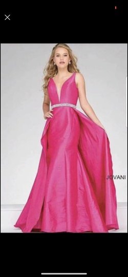 Queenly size 0 Jovani Pink Train evening gown/formal dress
