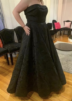Queenly size 18  Black Ball gown evening gown/formal dress