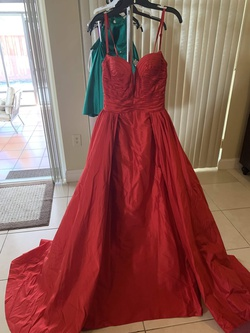 Jovani Red Size 2 Tall Height Ball gown on Queenly