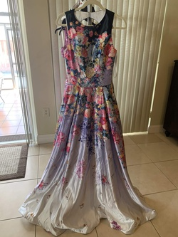 Jovani Multicolor Size 4 Tall Height Ball gown on Queenly