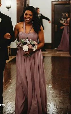 Azazie Purple Size 6 Straight Dress on Queenly