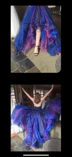 Style 51140 Sherri Hill Multicolor Size 8 Prom Pageant Halter Ball gown on Queenly