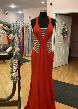 Queenly size 4 Colors Red Straight evening gown/formal dress