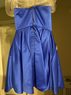 Sherri Hill Blue Size 8 Cocktail Dress on Queenly