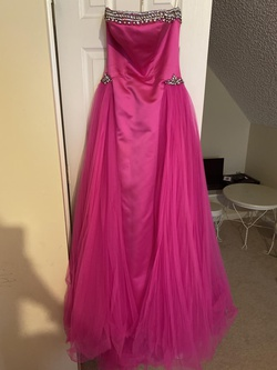 Sherri Hill Hot Pink Size 2 Strapless Straight Dress on Queenly