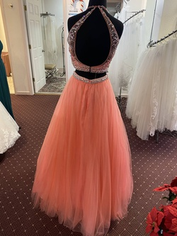 Blush Orange Size 2 Coral Pink Ball gown on Queenly