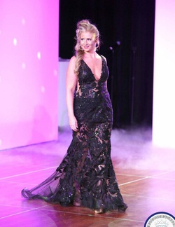 Jovani Black Size 6 Jewelled Sheer Lace Mermaid Dress on Queenly