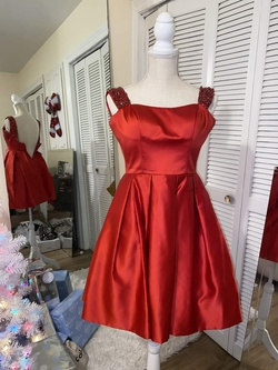Sherri Hill Red Size 0 Sorority Formal Wedding Guest Cocktail Dress on Queenly
