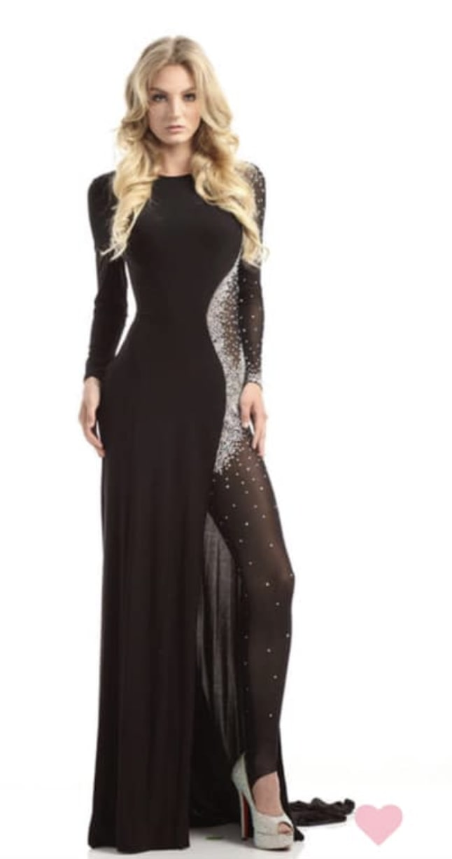 Style 6093 Johnathan Kayne Black Size 2 Fun Fashion Jumpsuit Dress on Queenly