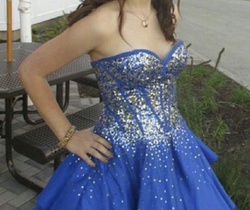 Lets fashion Blue Size 2 Corset Homecoming Ball gown on Queenly
