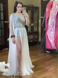 Queenly size 0 Rachel Allan White Cocktail evening gown/formal dress