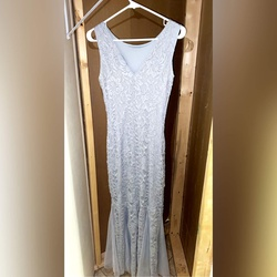 Blue Size 8 Mermaid Dress on Queenly