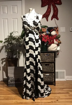 Alyce Designs Black Size 8 Sequin Jewelled Wedding Guest Mermaid Dress on Queenly