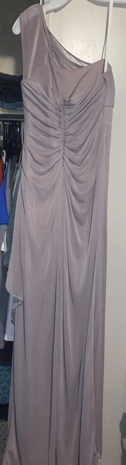 Davids Bridal Purple Size 2 Medium Height Bridesmaid One Shoulder Straight Dress on Queenly