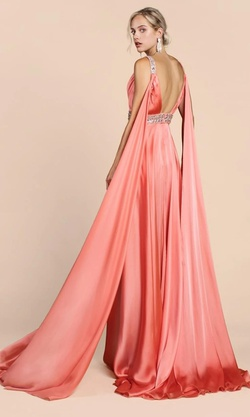 Cinderella Divine Pink Size 4 Tall Height Side slit Dress on Queenly