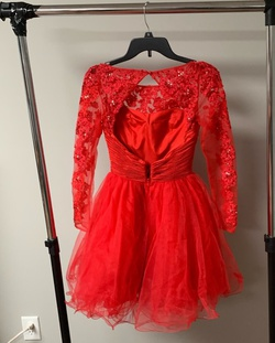 Sherri Hill Red Size 00 Flare Cocktail Dress on Queenly
