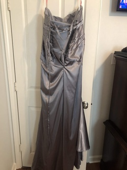 Silver Size 16 Mermaid Dress on Queenly