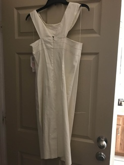 ADRIANNA PAPELL$142 White Size 12 Spandex Cocktail Dress on Queenly