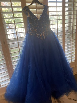 Queenly size 20 Mori Lee Blue Ball gown evening gown/formal dress
