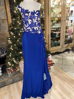 Queenly size 16  Blue Side slit evening gown/formal dress