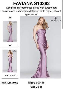 Queenly size 00 Faviana Red Side slit evening gown/formal dress
