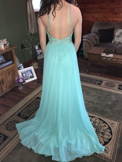 Jovani Green Size 0 Straight Dress on Queenly