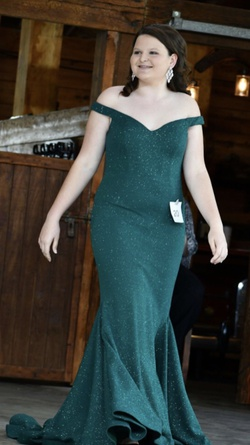 Jovani Green Size 12 Prom Plus Size Mermaid Dress on Queenly