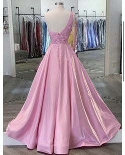 Style 9691 Ashley Lauren Pink Size 4 Tall Height Custom Ball gown on Queenly
