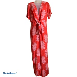 Queenly size 12 Fashion on Earth Red Jumpsuit evening gown/formal dress