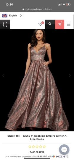 Style 52960 Sherri Hill Red Size 4 Prom Plunge A-line Dress on Queenly