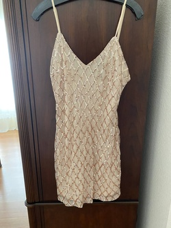 Queenly size 8  Nude Cocktail evening gown/formal dress