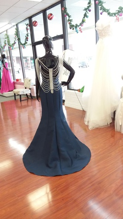 Envious Couture Blue Size 4 Prom Mermaid Dress on Queenly