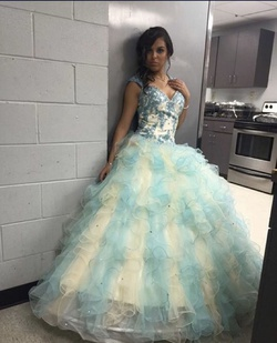 Queenly size 2 Aliexpress Multicolor Ball gown evening gown/formal dress