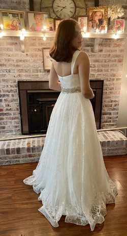 Mac Duggal White Size 8 Sweetheart Tall Height Ball gown on Queenly