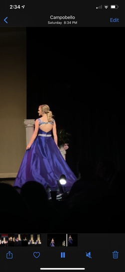 Ritzee Royal Blue Size 2 Pageant Cape Mermaid Dress on Queenly