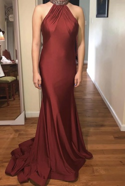 Queenly size 4 Mac Duggal Red Mermaid evening gown/formal dress