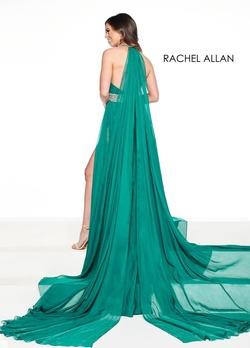 Style 5090 Rachel Allan Green Size 6 Sheer Tall Height Romper/Jumpsuit Dress on Queenly