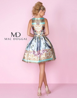 Style 66291C Mac Duggal Multicolor Size 10 Sorority Formal Tall Height Wedding Guest Cocktail Dress on Queenly