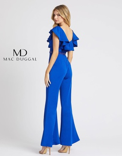 Style 67384L Mac Duggal Royal Blue Size 6 Romper/Jumpsuit Dress on Queenly