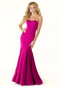 Style 45034 Mori Lee Hot Pink Size 00 Prom Mermaid Dress on Queenly