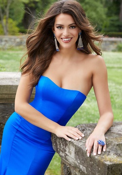 Style 45034 Mori Lee Blue Size 00 Prom Sweetheart Tall Height Mermaid Dress on Queenly