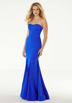 Style 45034 Mori Lee Blue Size 0 Sweetheart Tall Height Mermaid Dress on Queenly