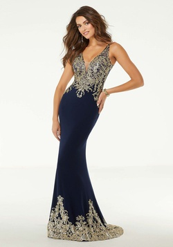 Queenly size 18 Mori Lee Blue Mermaid evening gown/formal dress