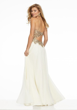 Style 43074 Mori Lee Gold Size 16 Prom A-line Dress on Queenly