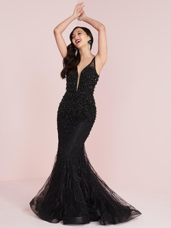 Queenly size 14 Panoply Black Mermaid evening gown/formal dress