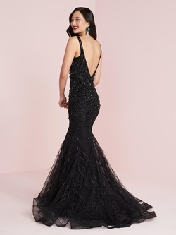 Style 14048 Panoply Black Size 18 Pageant Jewelled Tall Height Mermaid Dress on Queenly