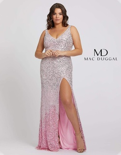 Queenly size 14 Mac Duggal Pink Side slit evening gown/formal dress