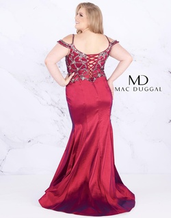 Style 77538F Mac Duggal Red Size 18 Plus Size Silk Mermaid Dress on Queenly