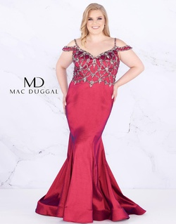 Queenly size 18 Mac Duggal Red Mermaid evening gown/formal dress